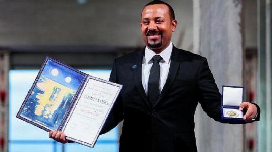 Ethiopian PM receives Nobel Peace Prize; urges unity against hatred
