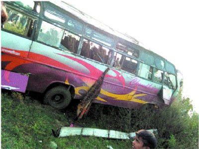 Man killed, 30 people injured after bus rams into biker