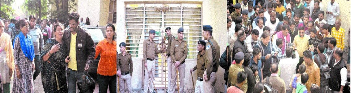 Charred body hanging by chain found in Govt school