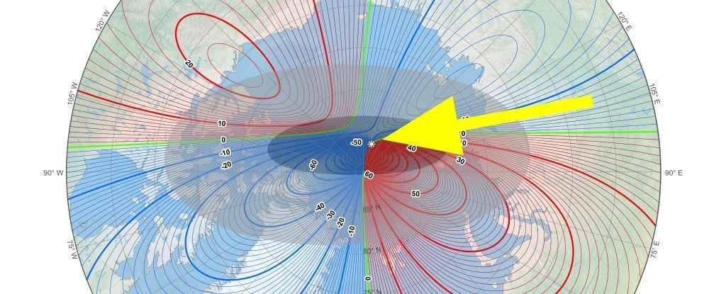 Earth magnetic North Pole