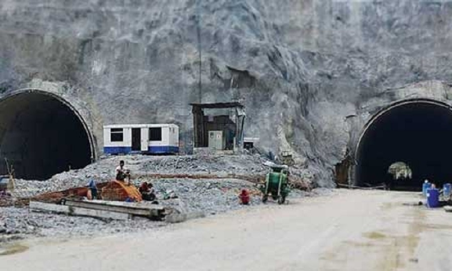 China digging tunnels nea