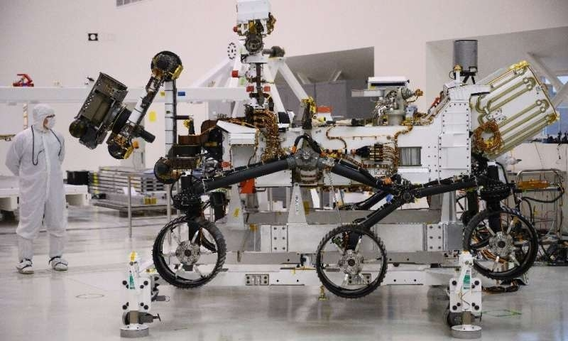 Mars 2020 rover to search