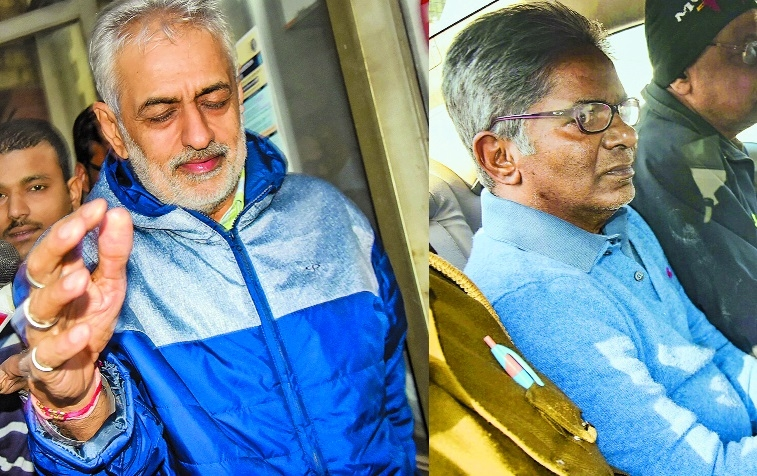 ED arrests Saxena, Talwar after being deported