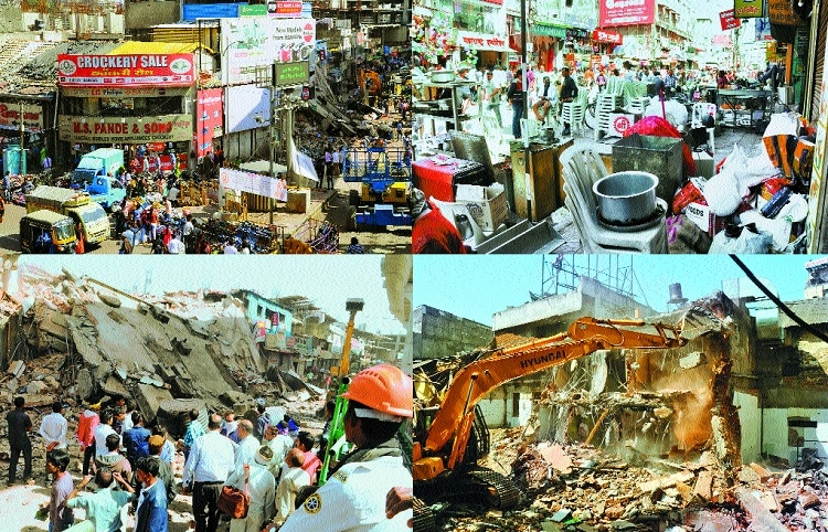 NIT Squad resumes demolition drive to pave way for Glocal Mall in Sitabuldi
