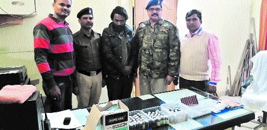 Man held for illegal trade of banned drugs