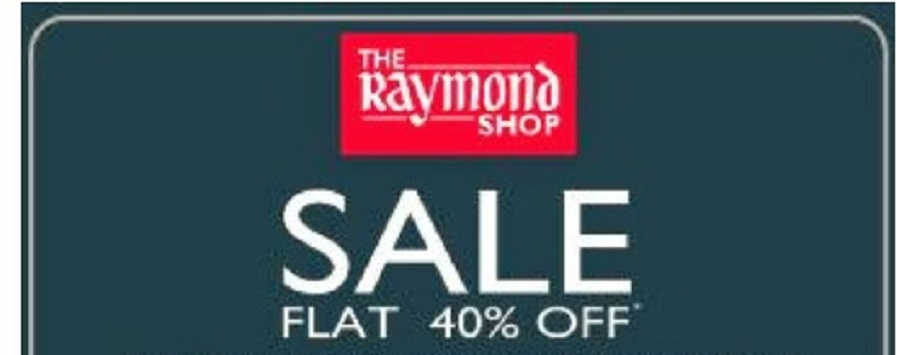 Raymond's annual sale offering upto flat 40% discount