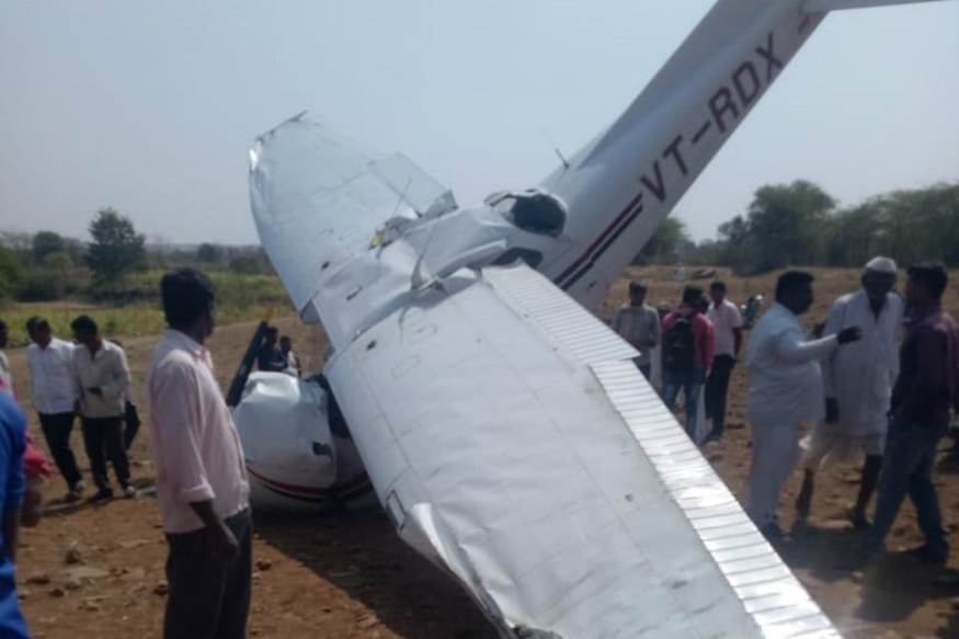Pilot hurt as civilian trainer aircraft crashes in Pune