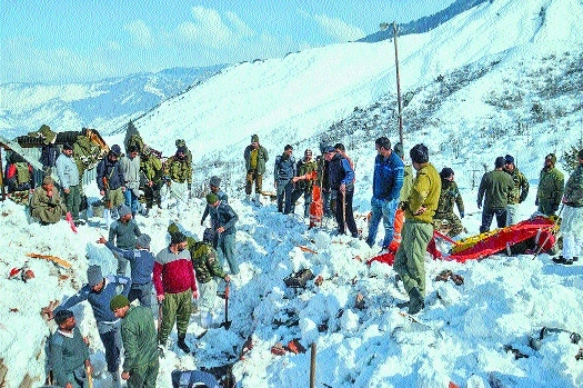 7 cops among 12 killed in snow-related incidents in J&K