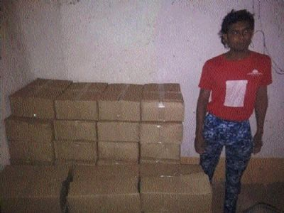 Huge quantity of illegal liquor seized from house