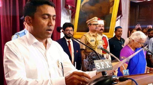 Pramod Sawant sworn in as Goa Chief Minister
