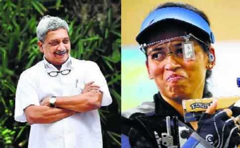 When Goa CM Parrikar helped Mah shooter Tejaswini take aim