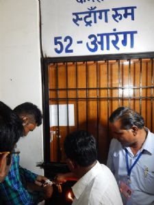 Strong room at GEC Sejbahar sealed; Collector thanks all for smooth polling