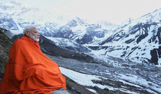 Modi meditates for 17 hours in Kedarnath