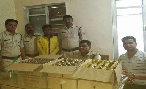 Man held for illegal liquor transport