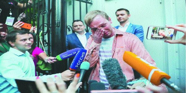 Russian scribe walks free as drugs charges dropped after outcry