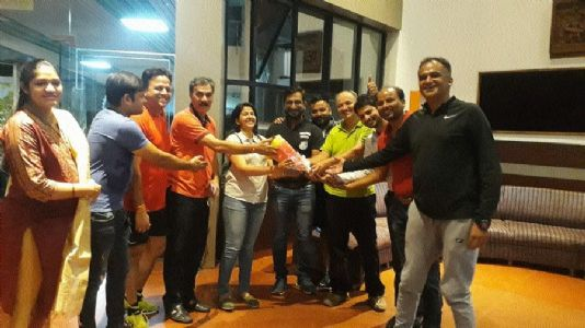 Members of Tour de Raipur gather at Coffee House