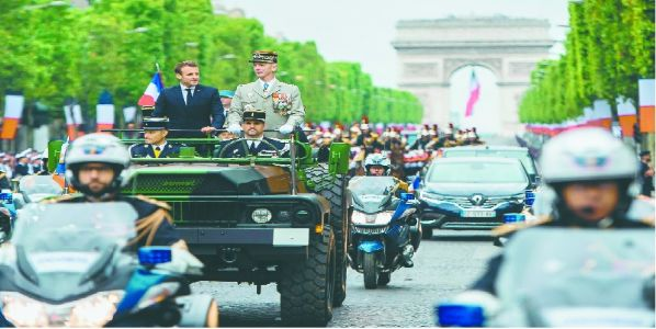 Macron showcases Europe military prowess at Paris parade