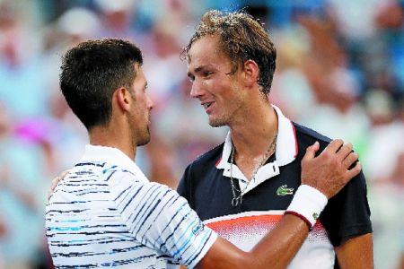 Djokovic dumped as Medvedev sets up Cincinnati final with Goffin