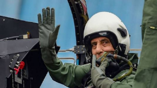Rajnath becomes first Defence Minister to fly in Tejas aircraft