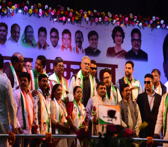 Newly-elected Cong Mayors, Speakers, Presidents, V-Ps, corporators honoured