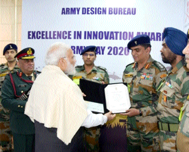 Colonel P Hani awarded by PM
