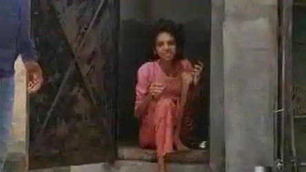 Woman locked inside toile