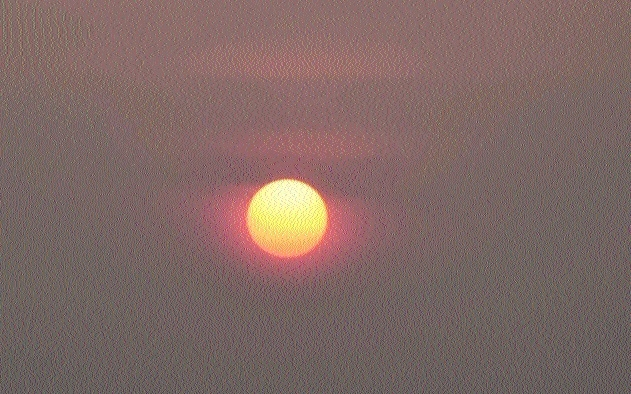 Sun turns into a red ball