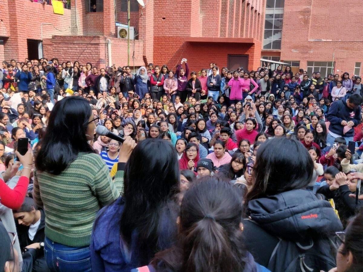 Anguished Gargi College s