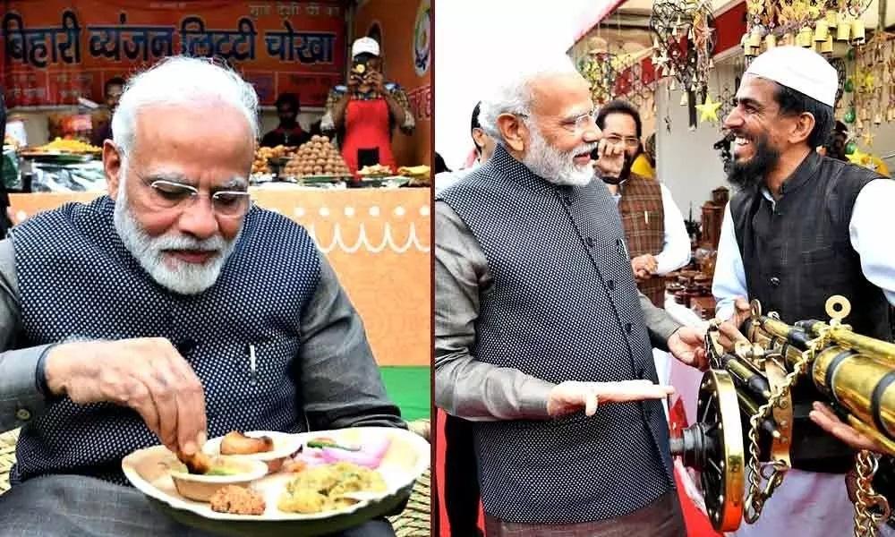 PM relishes litti chokha