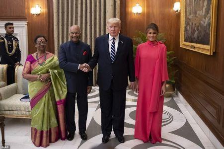 Kovind hosts banquet for US President at Rashtrapati Bhawan