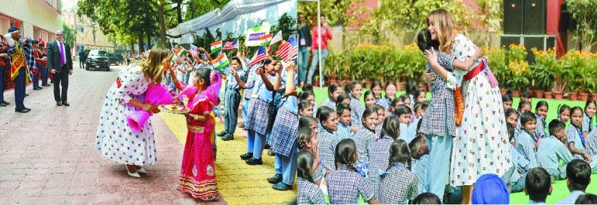 Melania attends 'Happiness Class,' says curriculum inspiring