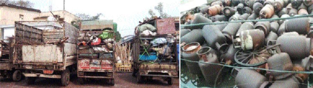 Police seize tonnes of scrap worth lakhs