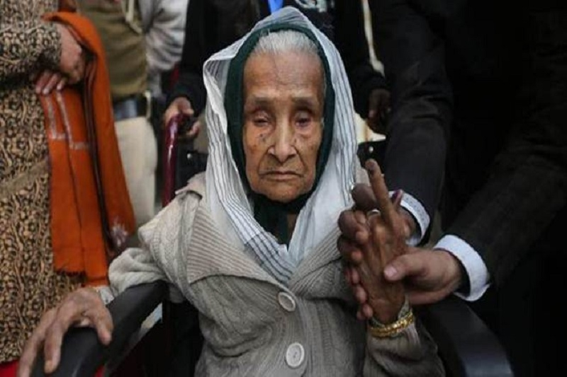 Oldest woman voter in Del