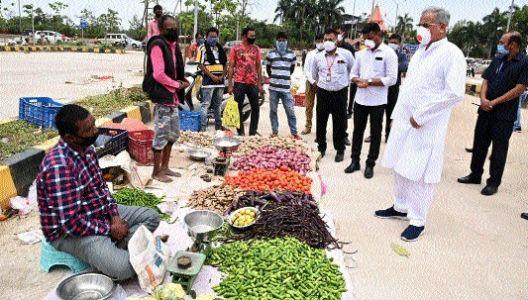 CM checks stock of essential goods