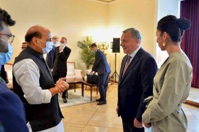 Rajnath Singh meets  Yur