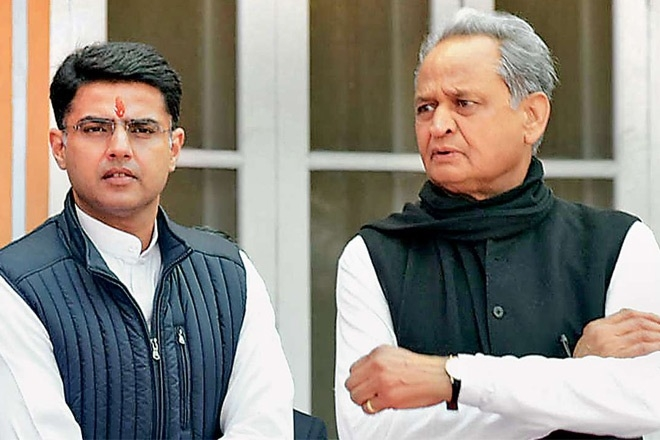 Sachin Pilot and Ashok Ge
