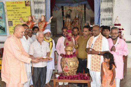 Swarn Kalash Parikrama conducted at Hare Krishna Ashram to mark Sharad Poornima