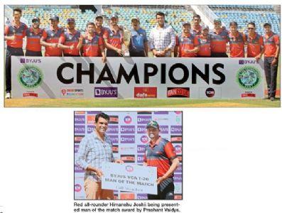 Red lift VCA Twenty20 Trophy Spinners Joshii, Rekhade strangulate Orange batters