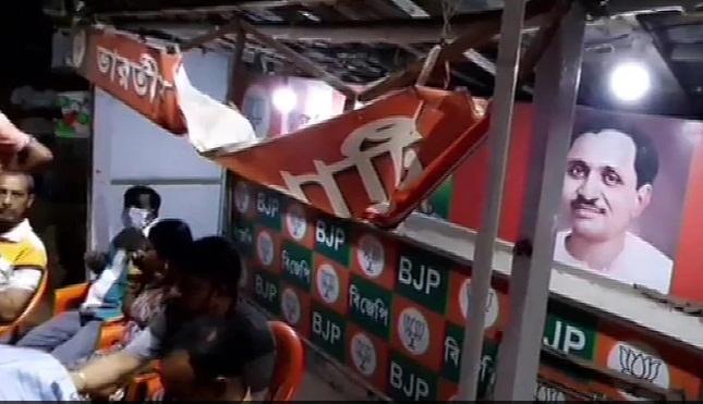 BJP office vandalised _1&