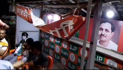 BJP office vandalised in West Bengal