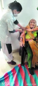 106-year-old gets first shot of vaccine at Berasia
