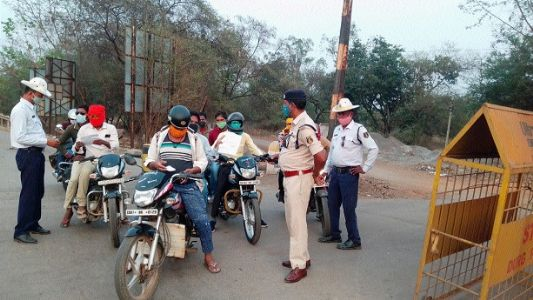 Traffic police launch vehicle checking drive