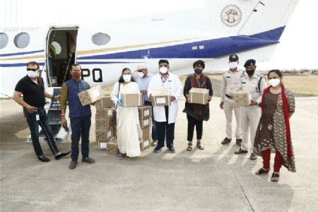 City gets stock of Remdesivir injection through special plane