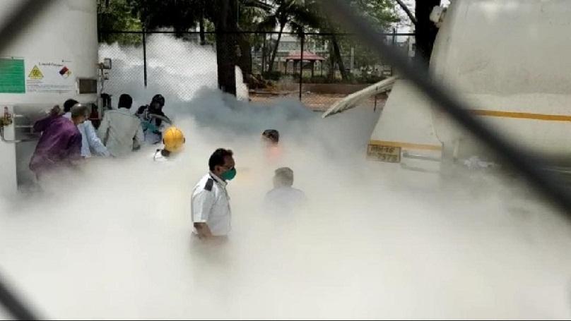 Leaked oxygen tank in Nas
