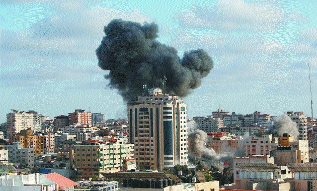 An Israeli airstrike_1&nb