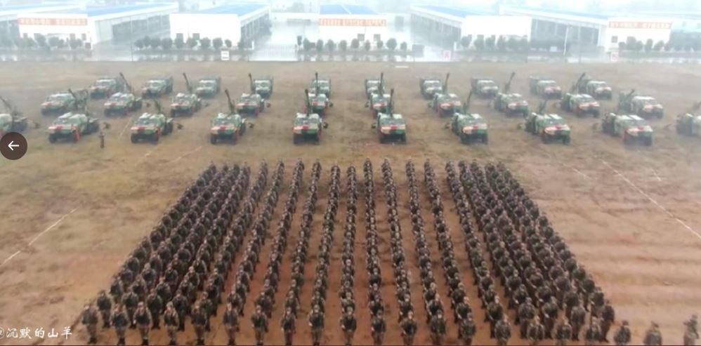 China amassing weapons sy