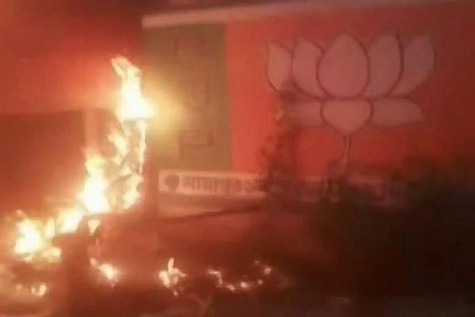 WB BJP office torched_1&