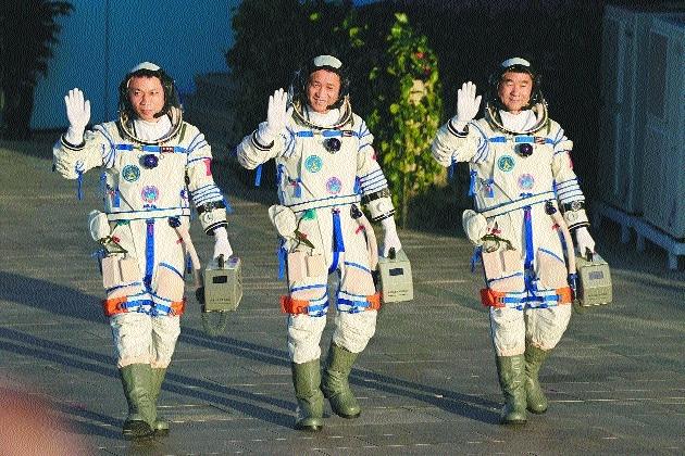 Three Chinese astronauts_