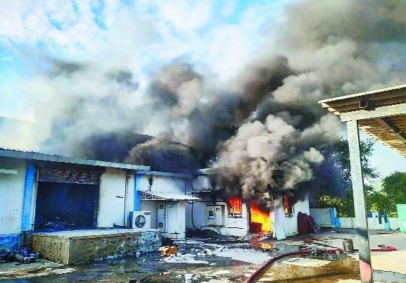 A fire breaks _1&nb