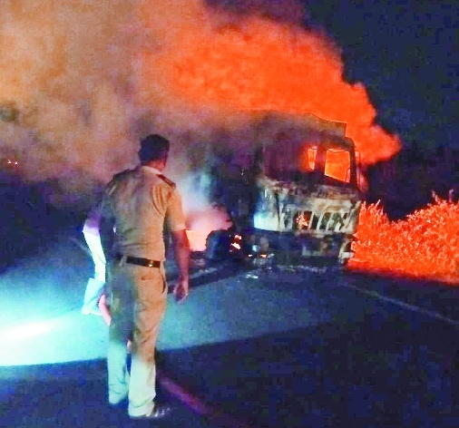 truck catches fire_1